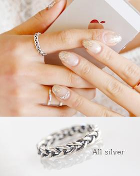 银扭戒指(rg261)