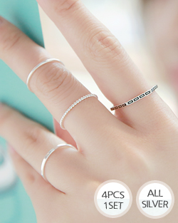 热是4件套套装戒指(rg024)