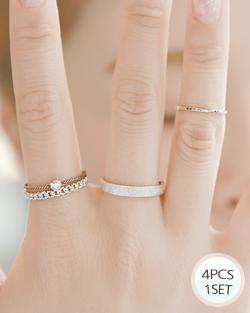 麻花型简单戒指(rg452)